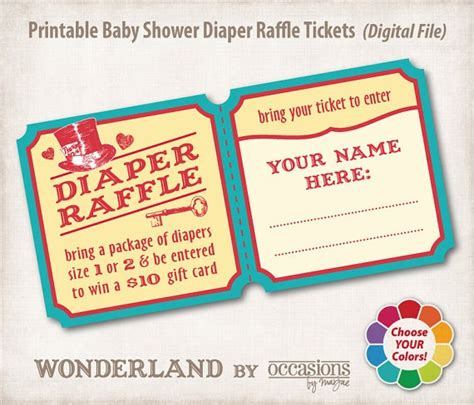 Baby Shower Raffle by Baby Shower Raffle Tickets Baby