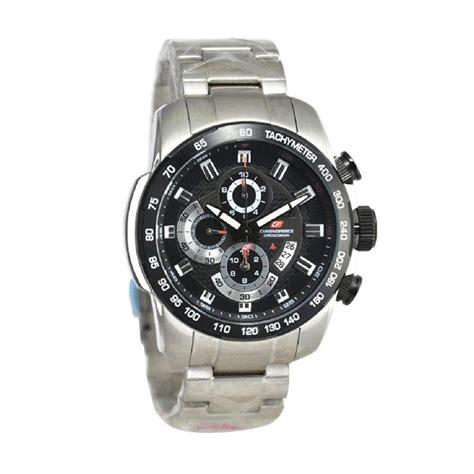 Jam Tangan Sa5221 Sikver Plat Hitam harga chronoforce jam tangan pria 5259 silver hitam