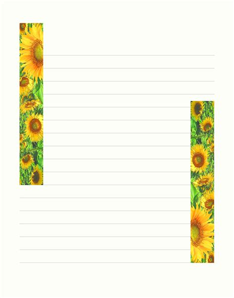 lined summer free printable stationary stationery
