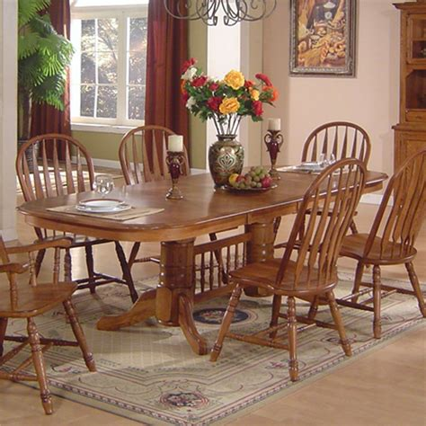 glass and oak dining table and chairs solid oak dining table arrowback chair set by e c i