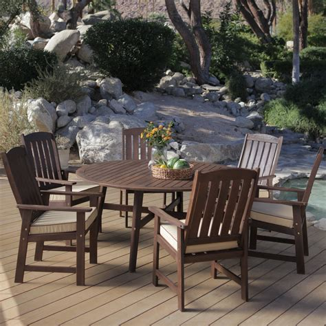 6 Seat Patio Dining Set Coral Coast Cabos Collection Patio Dining Set Seats 6 At Hayneedle