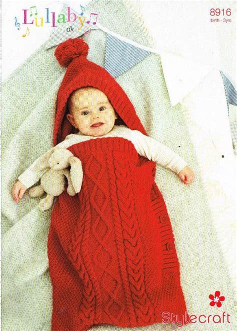 baby sleeping bag knitting pattern uk stylecraft 8916 baby sleeping bag aran knitting pattern