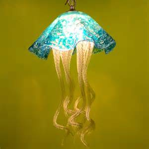 Custom Chandelier Shades Buy A Hand Made Jellyfish Pendant Light Turquoise