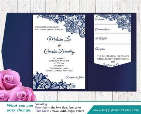 invitation layout sle sale printable pocket wedding invitation template set