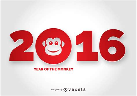Year Of Monkey 2016 2016 year of the monkey design free vector