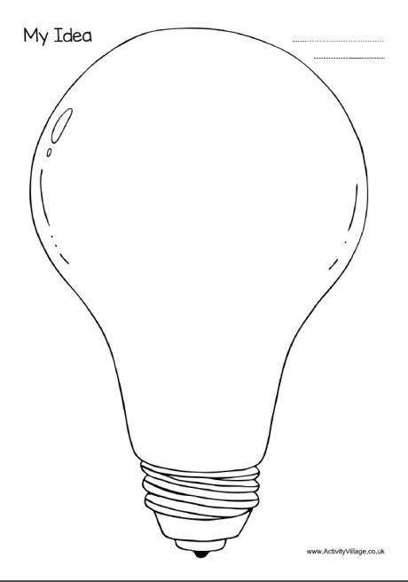 My Idea   Graphic organizers, Light bulb template