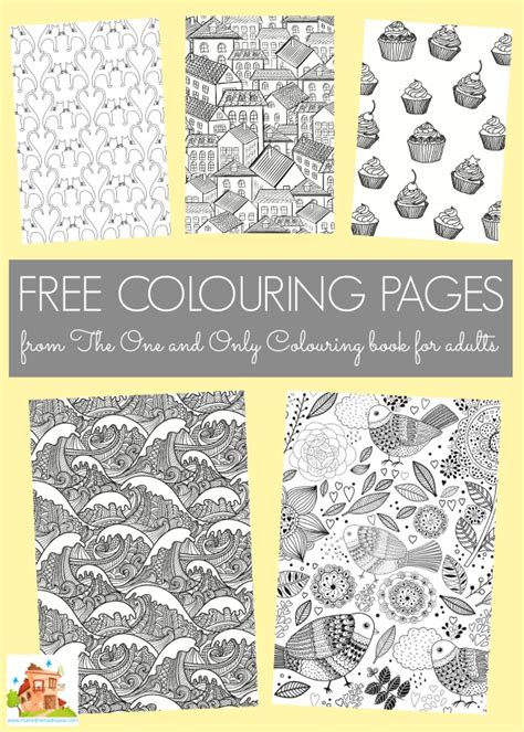 books for adults free colouring pages from the one and only colouring book
