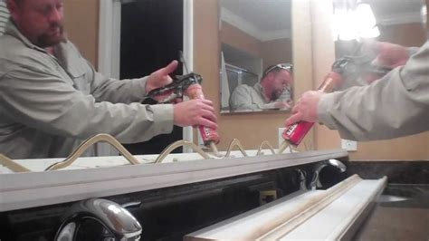 how to put a frame around a bathroom mirror bathroom mirror frame out diy youtube