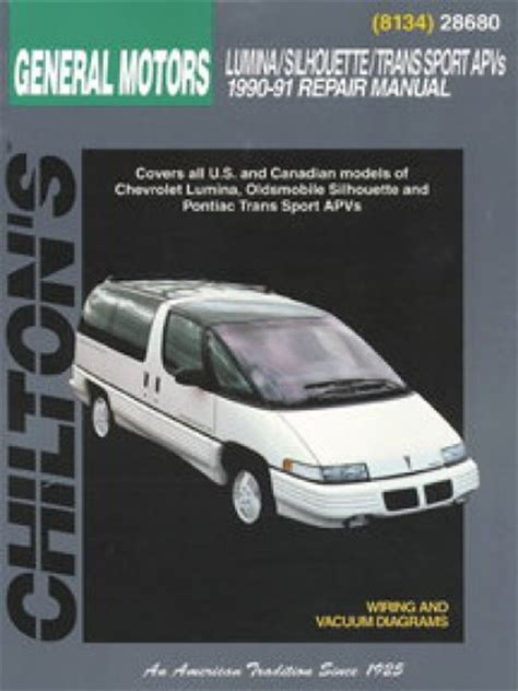 car repair manuals online pdf 1999 oldsmobile silhouette lane departure warning chilton gm lumina apv silhouette trans sport venture 1990 1999 repair manual