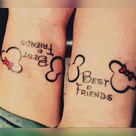disney best friend tattoos minnie mickey best friends pearcing