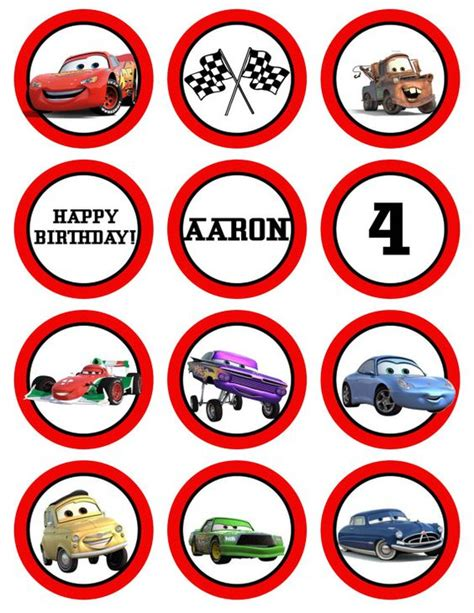 Cupcake Toppers Karakter Tema Foto 1 cupcake toppers jakey s 1st bday disney birthdays and cupcake toppers