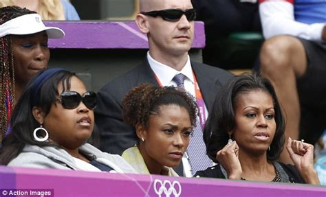 michel duval sister michelle obama and dominique dawes watch serena s match