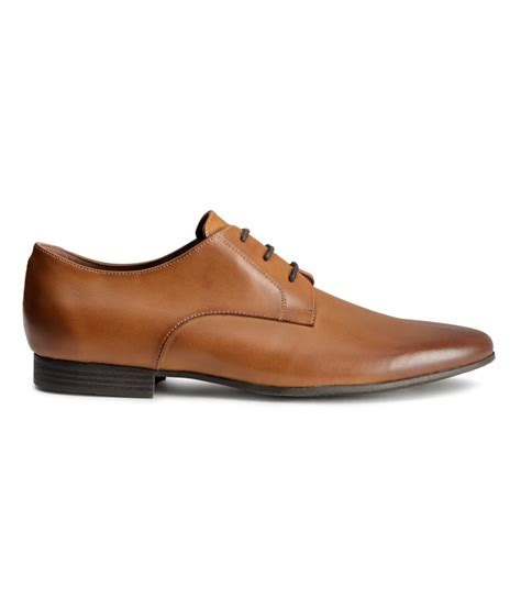h m mens shoes lyst h m derby shoes in brown for