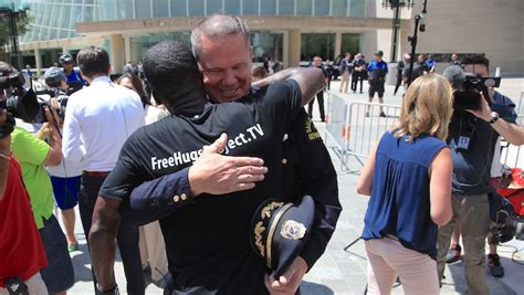 free hug guy black man s free hugs project shifts love toward cops in