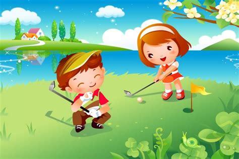 Dibujos De Niños Jugando Golf | ni 241 os jugando al golf 16990