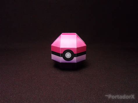 Papercraft Pokeball - 5 pokeball papercraft model by portadorx on deviantart