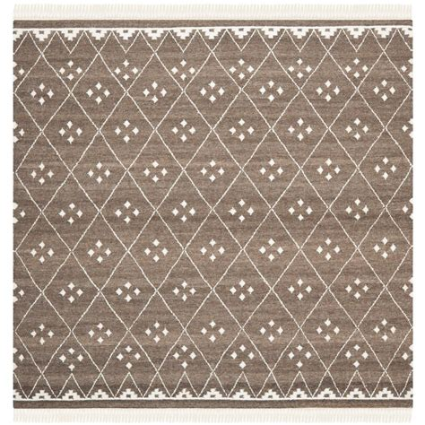 5 ft area rugs safavieh kilim brown ivory 5 ft x 5 ft square area rug nkm316a 5sq the home depot