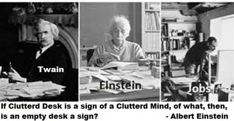 if a cluttered desk is a sign of a cluttered mind of what