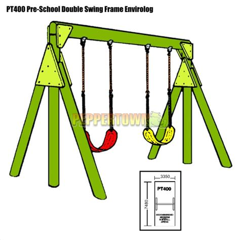 hills swing parts pre school double swing frame with swings by peppertown