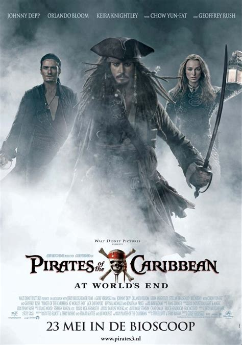 Of The Caribbean 3 At Worlds End by Of The Caribbean At World S End 2007 Poster