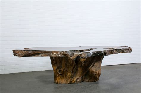 Wood Slab Coffee Tables Vintage Burl Wood Slab Coffee Table At 1stdibs