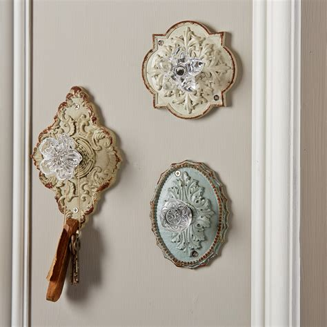 Home Furnishing And Decor by Vintage Door Knob Hooks Set Of 3 Tutti Decor Ltd