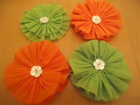 How To Make Crepe Paper Rosettes - how to make crepe paper rosettes crepes buttons and