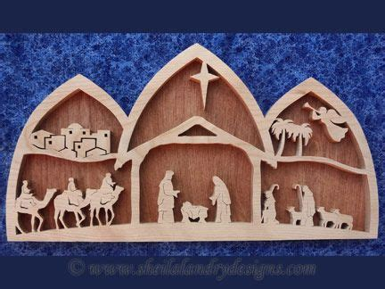 pattern for wood nativity scene sldk216 arched nativity scene wood pinterest arch
