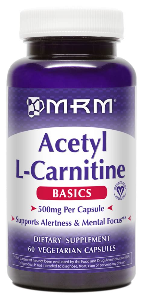 l carnitine weight management capsules acetyl l carnitine 500mg per capsule mrm metabolic