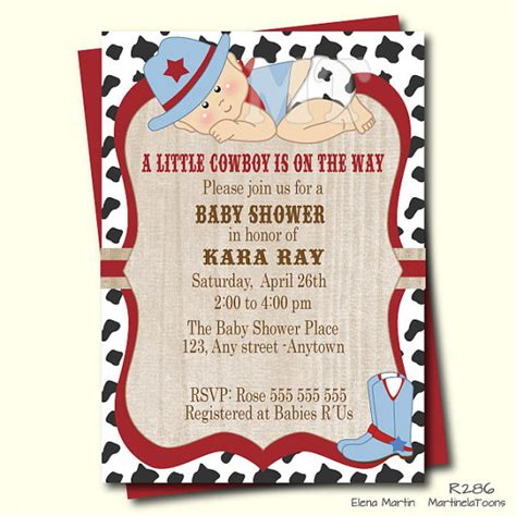 Western Baby Shower by Cowboy Baby Shower Invitation Western Baby Shower Invite