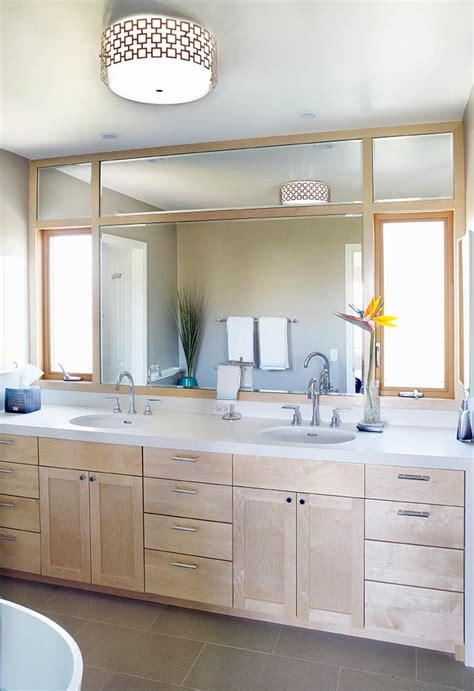 maple bathroom mirror contemporary bathroom maple wood mirror vanity