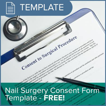 surgery consent form template nail surgery consent form template osgo the podiatry