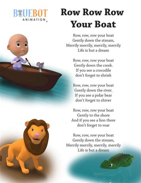 toy boat lyrics row row row your boat nursery rhyme lyrics free printable