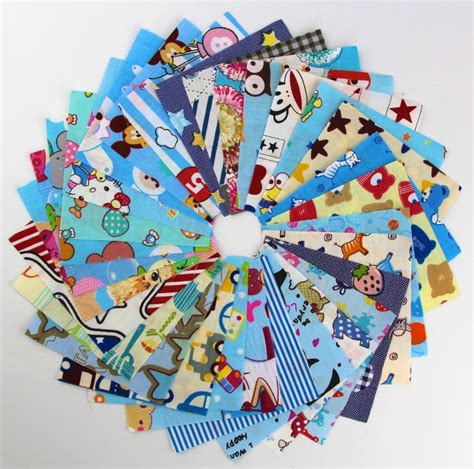 Patchwork Fabric Packs - 30pcs random color 10cm 10cm remnant cloth fabric cotton