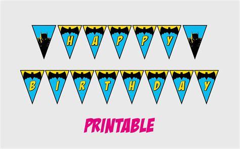 printable happy birthday superhero banner printable batman happy birthday banner superhero party