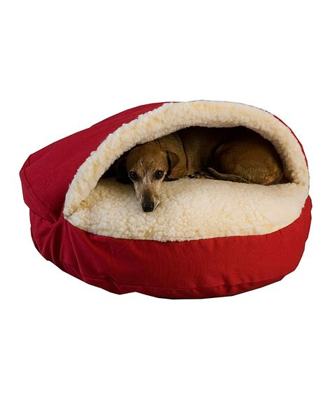 snoozer cozy cave pet bed red snoozer cozy cave pet bed zulily