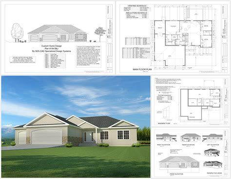 Download This Weeks Free House Plan H194 1668 Sq Ft 3 Bdm 2 Bath Garage Apartment Plans