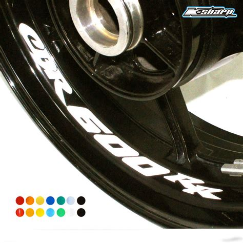 Decal All New Cbr K45g 3 8 x custom inner decals wheel reflective stickers stripes fit honda cbr 600 rr in decals