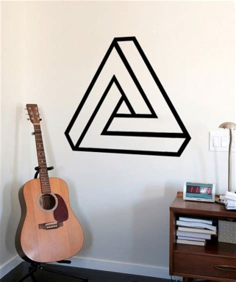 Wallpaper Stiker Wallpaper Dinding 040 Pepeng Shop 082333583453 impossible triangle geometric moonwallstickers