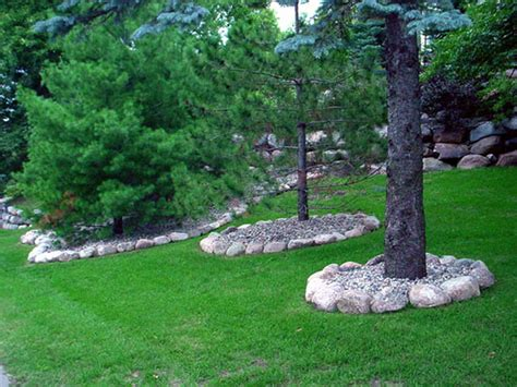 Baum Mit Steinen Umranden by Landscape Edging Trees Home Ideas Collection