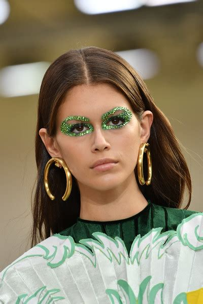 kaia gerber earrings kaia gerber gold hoops jewelry lookbook stylebistro