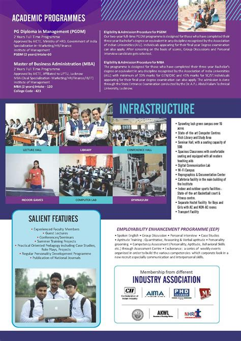 Mba Brochure 2017 by School Of Management Sciences Sms Lucknow