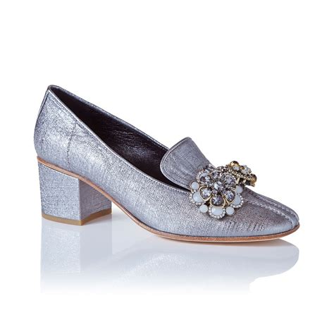 People Style Watch Giveaways - lily loafers in silver leather shoes with embellishments