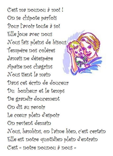 Exemple Lettre Remerciement Nounou Poeme Pour Nounou