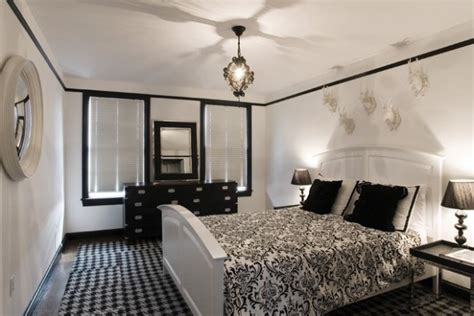 15 black and white bedroom design ideas style