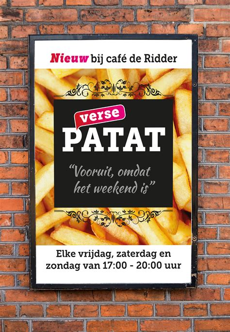 Poster For Cafe 41 poster caf 233 de ridder villa vormgeving