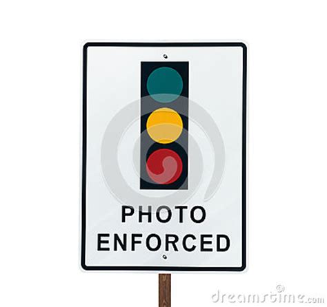 light photo enforced photo enforced traffic light sign royalty free stock