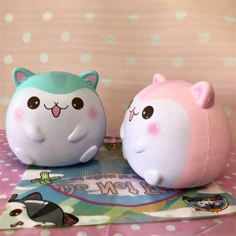 Squishy Jumbo Ibloom Breadoll Original poli the hamster mint and strawberry version licensed creamiicandy shop