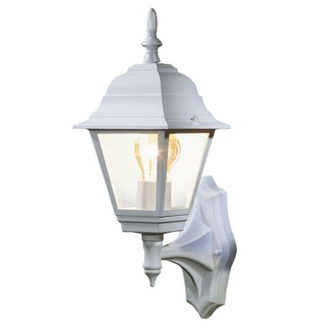 B Q Penarven Outdoor Wall Light In White Wall Light B Q Outdoor Lights