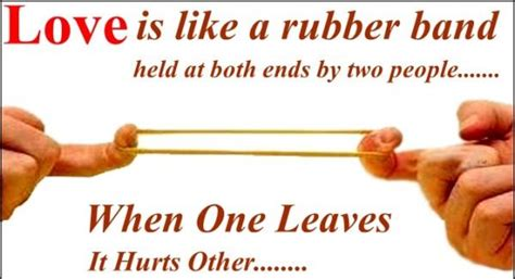 rubber sts definition when one leaves it hurts the other is one but it